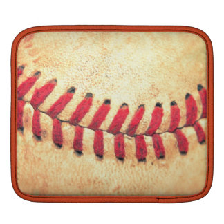 Vintage baseball ball iPad sleeve