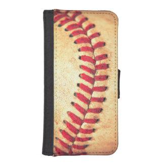 Vintage baseball ball iPhone SE/5/5s wallet case