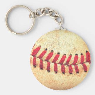 Vintage baseball ball key ring