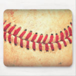 Vintage baseball ball mouse pad