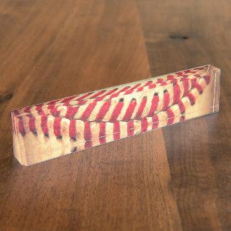Vintage baseball ball name plates