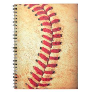 Vintage baseball ball notebooks