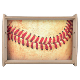 Vintage baseball ball food tray