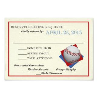 Vintage Baseball Bar Mitzvah Reply 9 Cm X 13 Cm Invitation Card