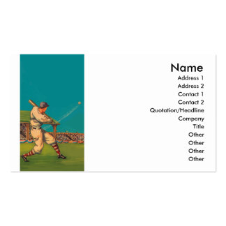 Vintage Baseball Business Card Templates