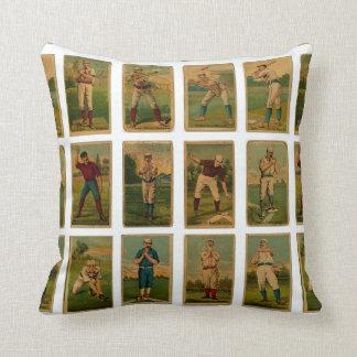 vintage baseball cards cushion