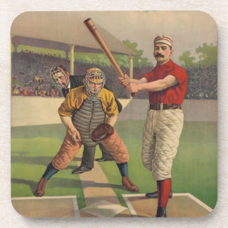 Vintage Baseball Cork Coaster