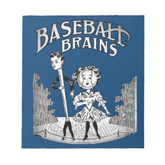 Vintage Baseball Design Notepad