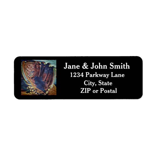 Vintage Baseball Glove Return Address Labels