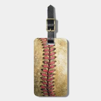 Vintage Baseball Luggage Tag