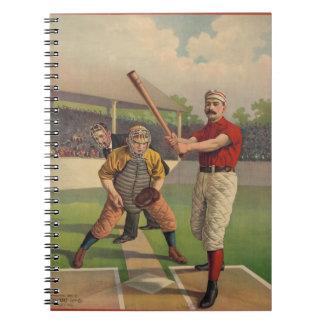 Vintage Baseball Notebook