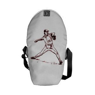 Vintage Baseball Pitcher Messenger Bag