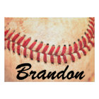 Vintage Baseball Player Custom Text Poster