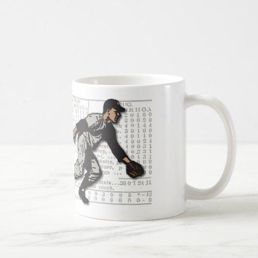 Vintage Baseball Player Mug