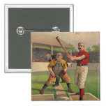 Vintage Baseball Poster Button