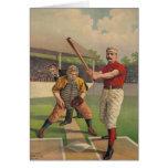 Vintage Baseball Poster Card