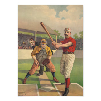 Vintage Baseball Poster Invitation
