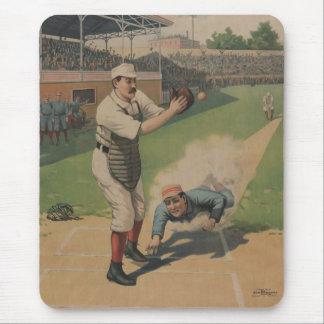 Vintage Baseball Poster Mousepad