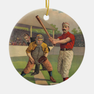 Vintage Baseball Poster Ornament