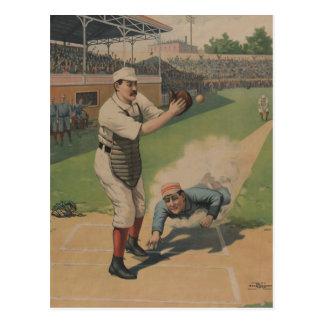 Vintage Baseball Poster Postcard