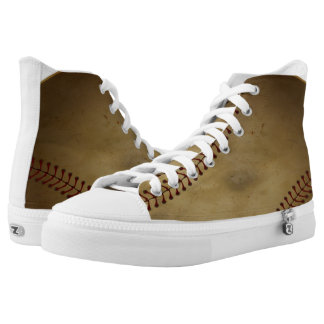 Vintage Baseball Printed Shoes