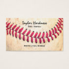 Vintage Baseball Red Stitches Close Up Photo Business Card