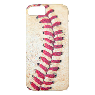 Vintage Baseball Red Stitches Close Up Photo iPhone 7 Case