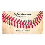Vintage Baseball Red Stitches Close Up Photo Pack Of Standard Business Cards