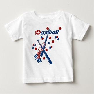 Vintage Baseball Stars and Stripes Baby T-Shirt