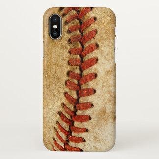 Vintage Baseball Stitches Pattern iPhone X Case