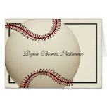 Vintage Baseball Thank You Note Card