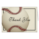 Vintage Baseball Thank You Stationery Note Card