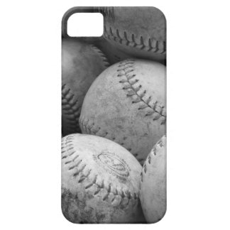 Vintage Baseballs in Black and White Case For The iPhone 5