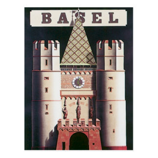 Vintage Basel Switzerland Postcard