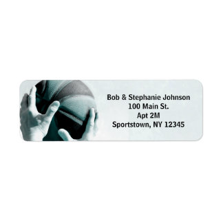 Vintage Basketball Return Address Label