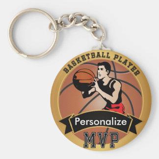 Vintage Basketball Sport | DIY Text Basic Round Button Key Ring