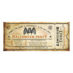 Vintage Bat Halloween Ticket Invitation