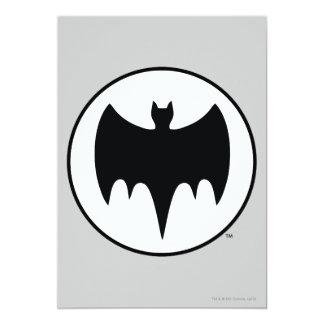Vintage Bat Symbol 13 Cm X 18 Cm Invitation Card