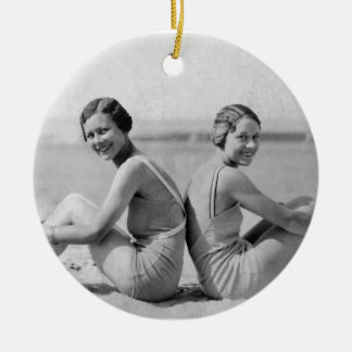 Vintage bathers christmas ornament