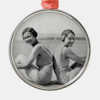 Vintage bathers christmas ornament