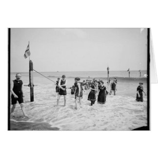 Vintage Bathers Coney Island Greeting Card