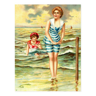 Vintage Bathing Beauties Postcard