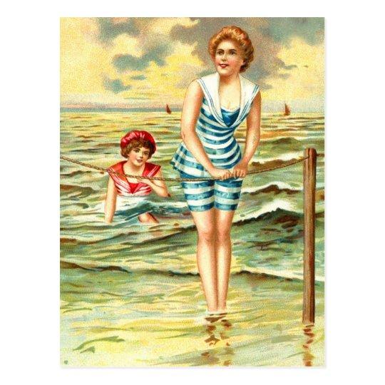 Vintage Bathing Beauties Postcard