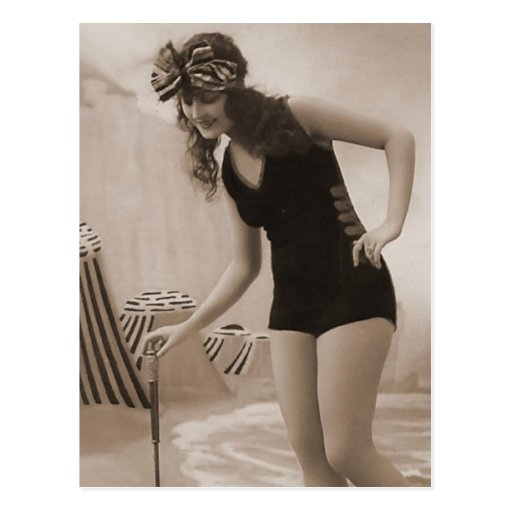Vintage Bathing Beauty Flapper Girl Portraits Post Card