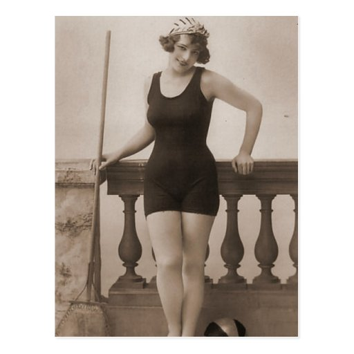 Vintage Bathing Beauty Flapper Girl Portraits Postcard
