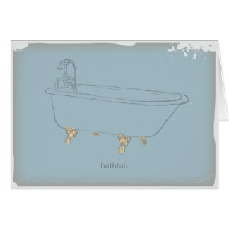 Vintage Bathtub Card