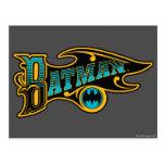 Vintage Batman Logo Postcard
