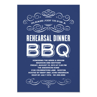 VINTAGE BBQ | REHEARSAL DINNER BBQ 13 CM X 18 CM INVITATION CARD