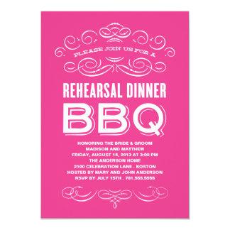 VINTAGE BBQ   REHEARSAL DINNER BBQ 13 CM X 18 CM INVITATION CARD