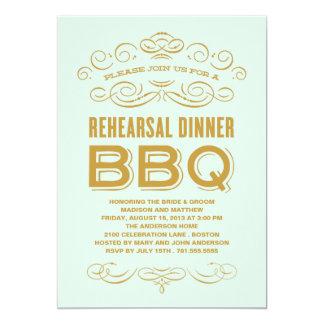 VINTAGE BBQ | REHEARSAL DINNER BBQ 13 CM X 18 CM INVITATION CARD